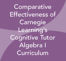 Comparative Effectiveness of Carnegie Learning's Cognitive Tutor Algebra I Curriculum