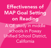 Effectiveness of MAP Goal Setting on Reading for Middle School: Poway Unified School District