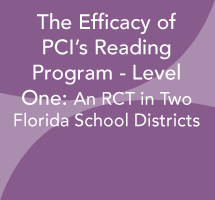 The Efficacy of PCI's Reading Program - Level One