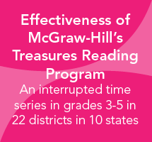 Effectiveness of McGraw-Hill's Treasures Reading Program in Grades 3-5