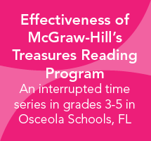 Effectiveness of McGraw-Hill's Treasures Reading Program in Grades 3-5 in Florida