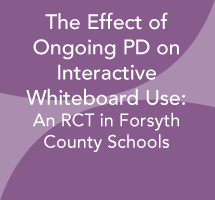 The Effect of Ongoing Professional Development on Interactive Whiteboard Use: Forsyth County Schools