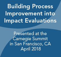 Building Process Improvement into Impact Evaluations