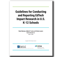 Guidelines for Conducting and Reporting EdTech Impact Research in U.S. K-12 Schools
